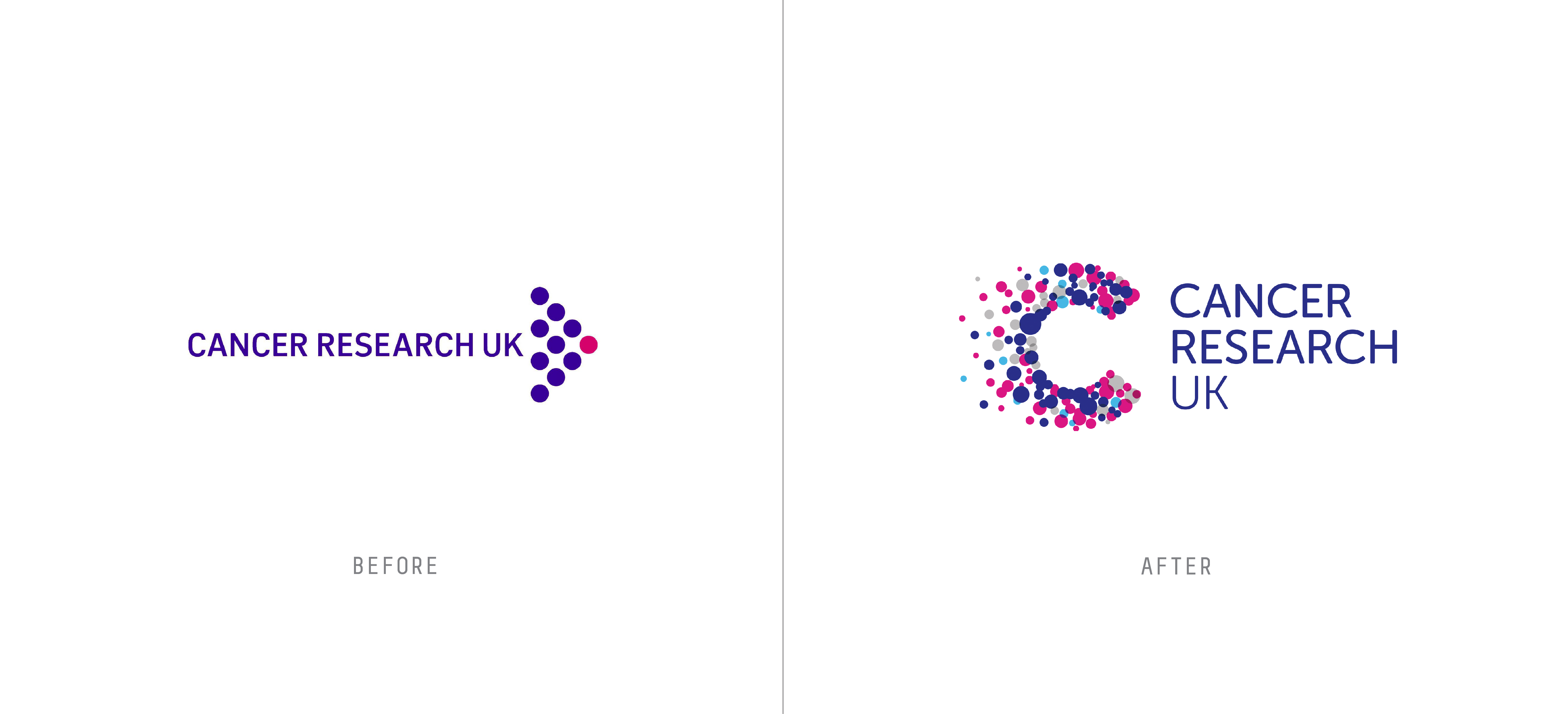healthcare rebranding examples cancer research uk