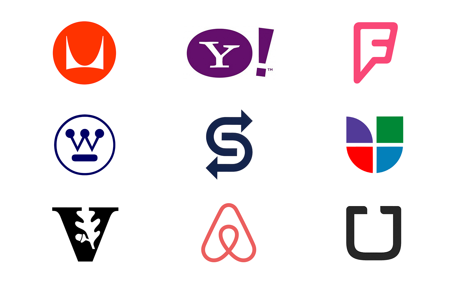 5 logo types letterform marks