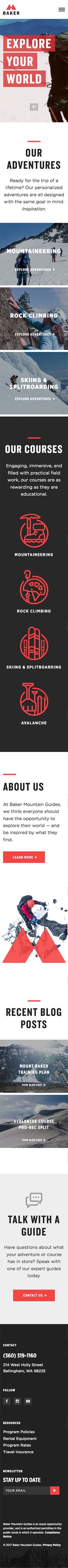 baker website ignyte design agency