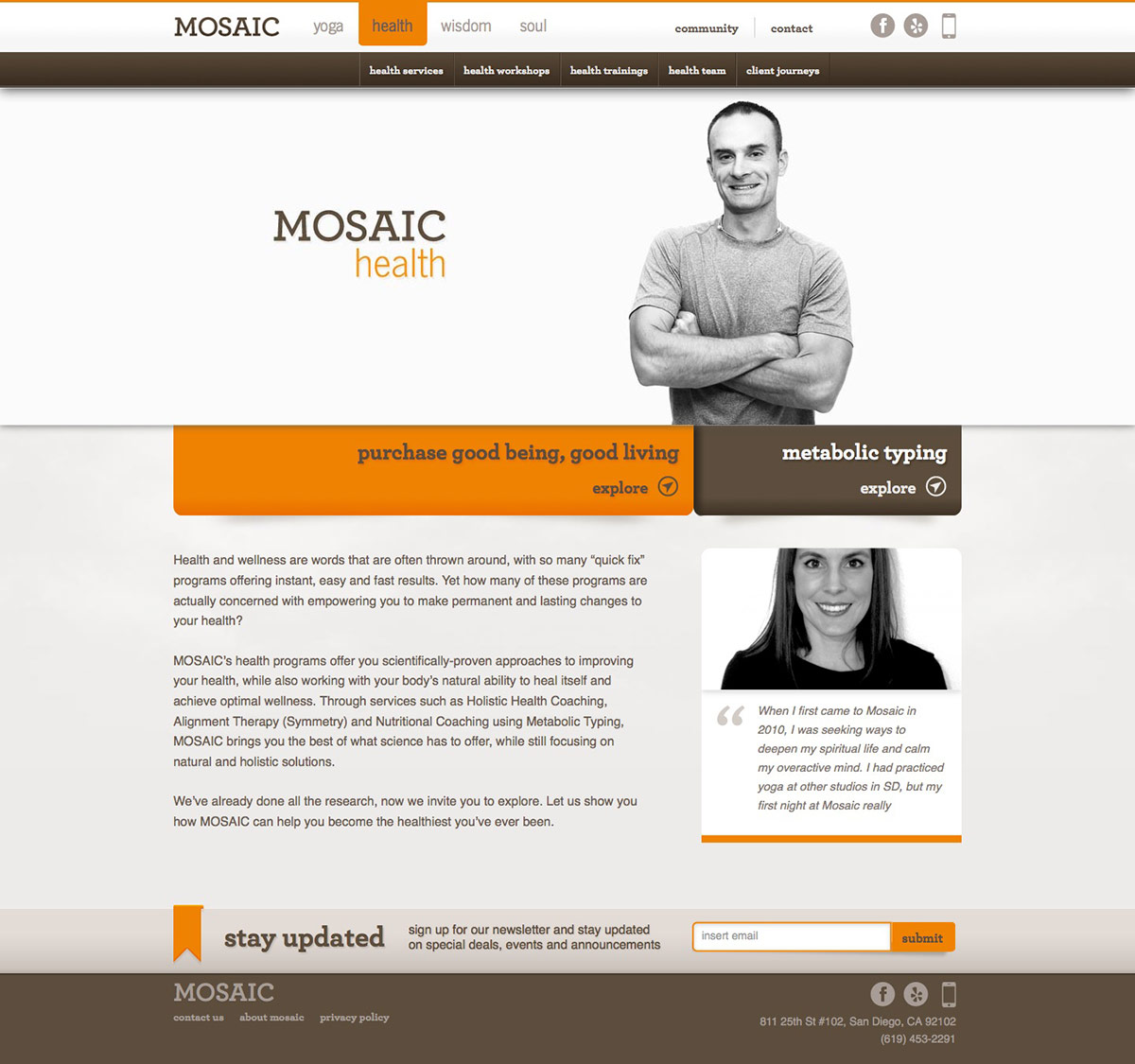ignyte-web-design-agency-mosaic-health-homepage