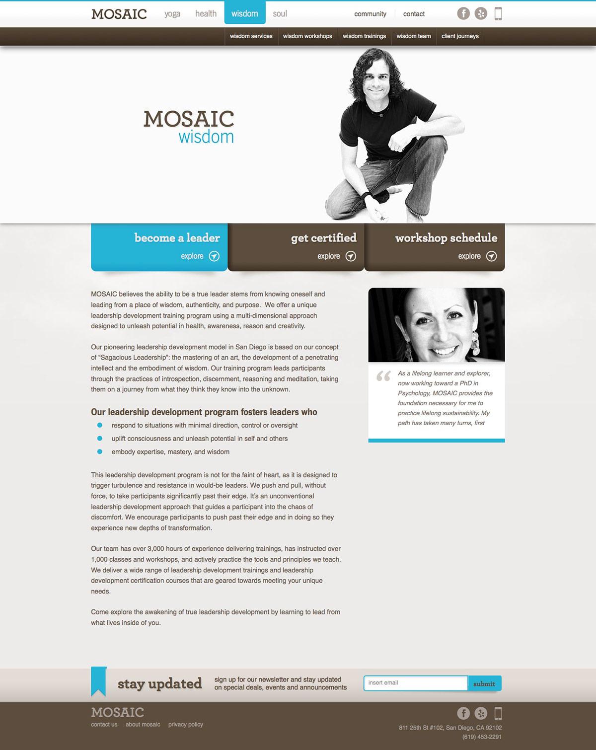 ignyte website design agency wisdom homepage