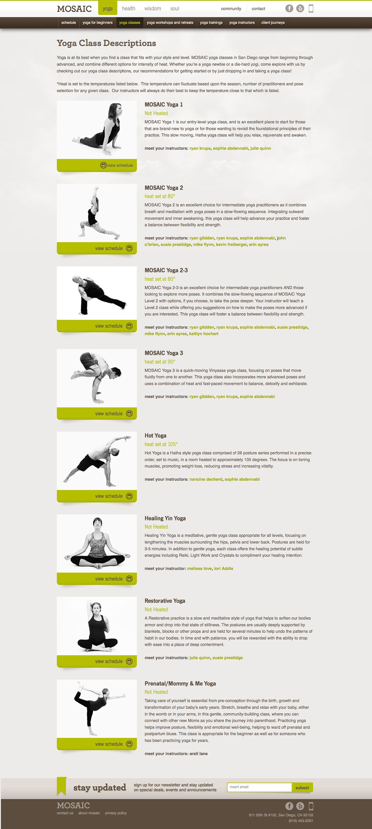 ignyte website design agency yoga classes