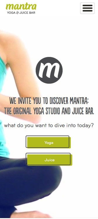 ignyte web design agency responsive website design mantra yoga