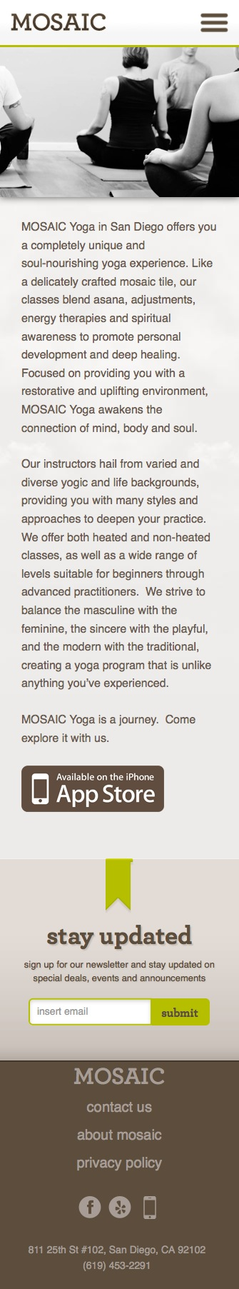 ignyte web design agency responsive website design mosaic yoga