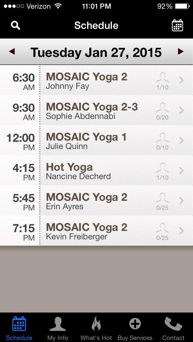 ignyte web design agency mosaic yoga mobile app