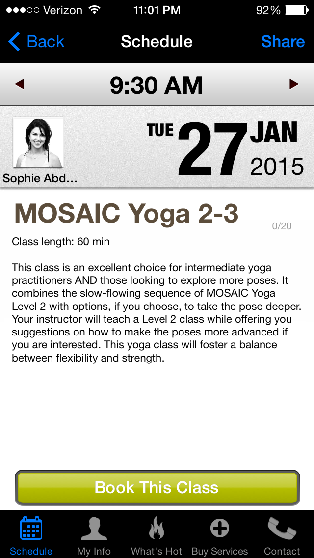 ignyte web design agency mosaic yoga mobile app